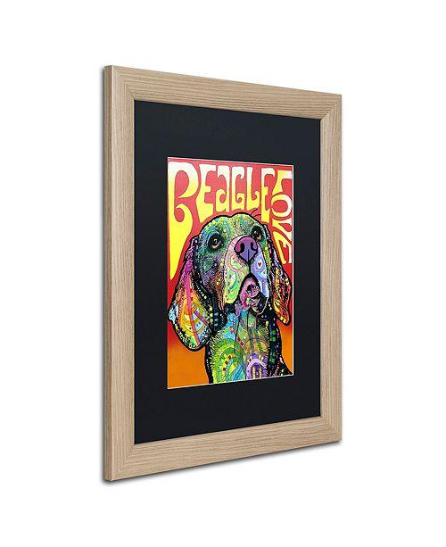 """Trademark Global Dean Russo 'Beagle Love' Matted Framed Art, 16"""" x 20"""""""