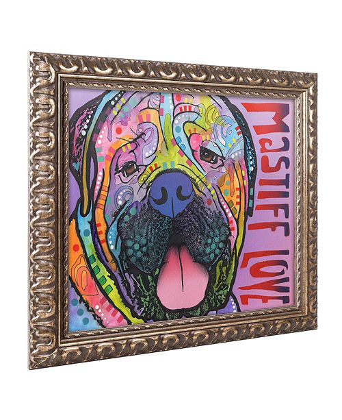 "Trademark Global Dean Russo 'Mastiff Love' Ornate Framed Art, 11"" x 14"""
