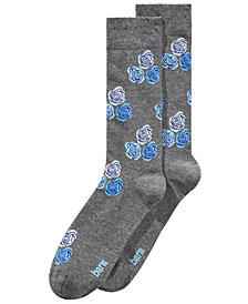 Bar III Men's Floral-Print Socks, Created for Macy's