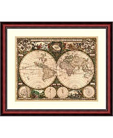 World Map, 1660  Framed Art Print