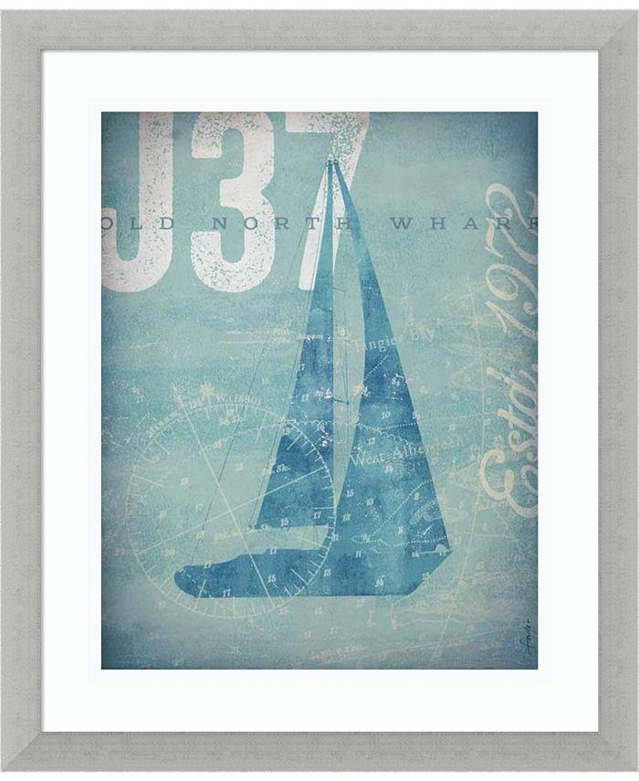 Amanti Art - Nautical III- Sailboat 16x19 Framed Art Print