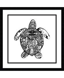 Amanti Art Goodbye Sea Turtle Framed Art Print