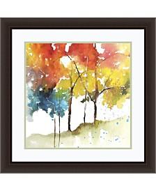 Amanti Art Rainbow Trees II Framed Art Print