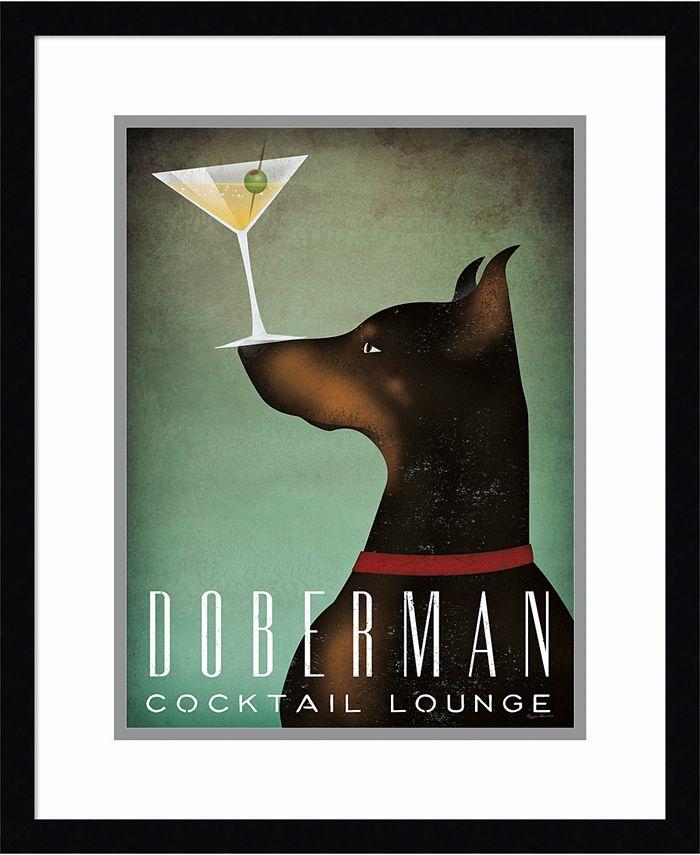 Amanti Art - Doberman Martini 18x22 Framed Art Print