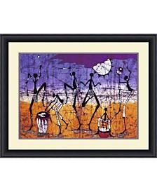 Amanti Art Gathering In The Kalahari I  Framed Art Print