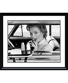 Marilyn Monroe At The Drive-In, 1952  Framed Art Print