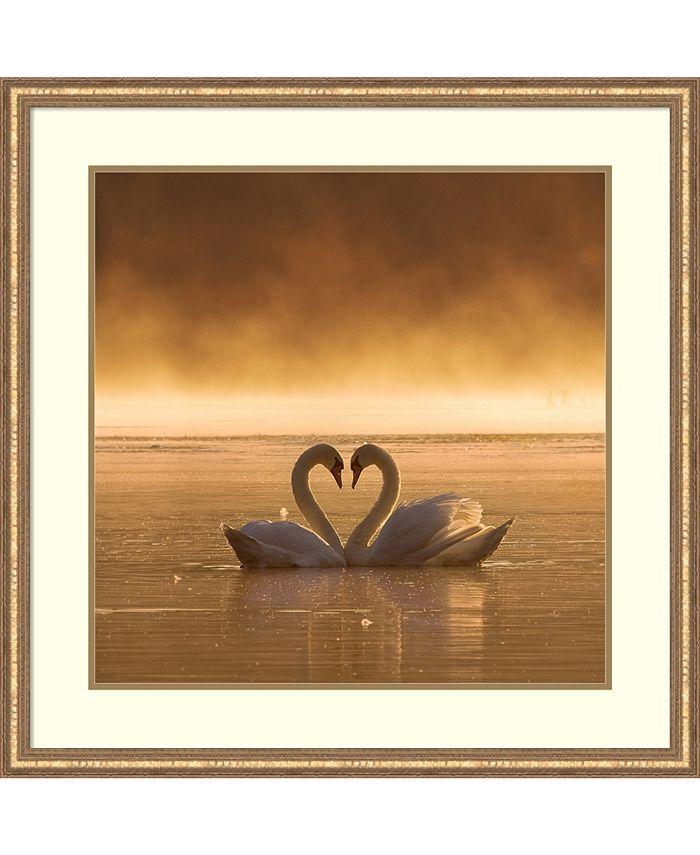 Amanti Art - Lovers 32x32 Framed Art Print