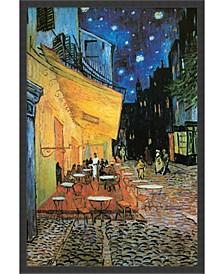 Cafe Terrace At Night, 1888 Framed Art Print
