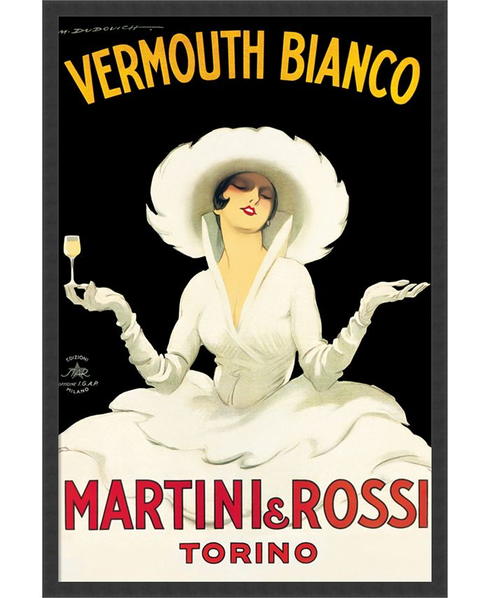 Amanti Art - Martini & Rossi by Marcello Dudovich- 25x37 Framed Art Print