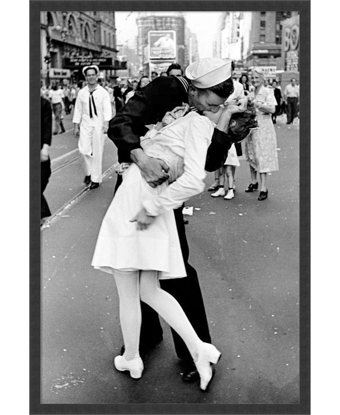 Amanti Art - Kissing on VJ Day - Times Square 25x37 Framed Art Print