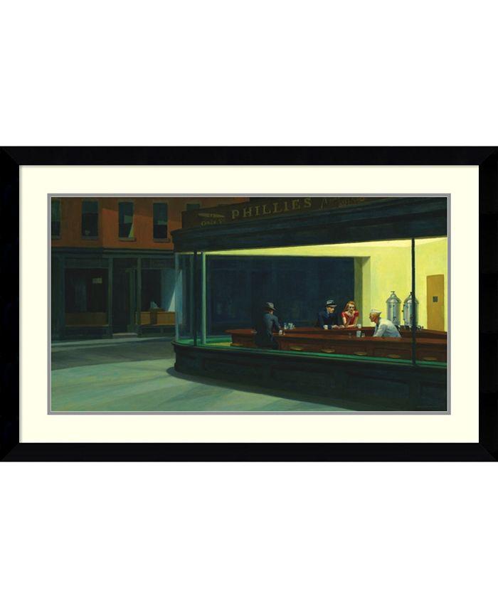 Amanti Art - Nighthawks, 1942 42x27 Framed Art Print