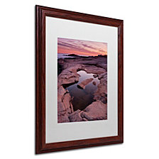 Michael Blanchette Photography 'Tide Pool Geometry' Matted Framed Art