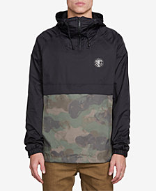 Volcom Men's Colorblocked Camo Hooded Jacket