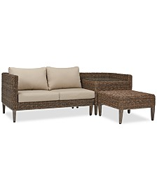La Palma Outdoor 3-Pc. Sectional Seating Set (1 Right-Arm Loveseat Sectional, 1 Corner Table With Arm And 1 Coffee Table), Created For Macy's