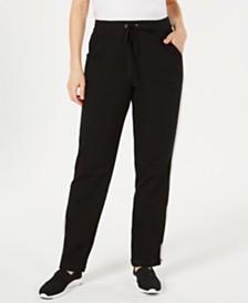 Karen Scott Colorblocked Stripe Pull-On Pants, Created for Macy's