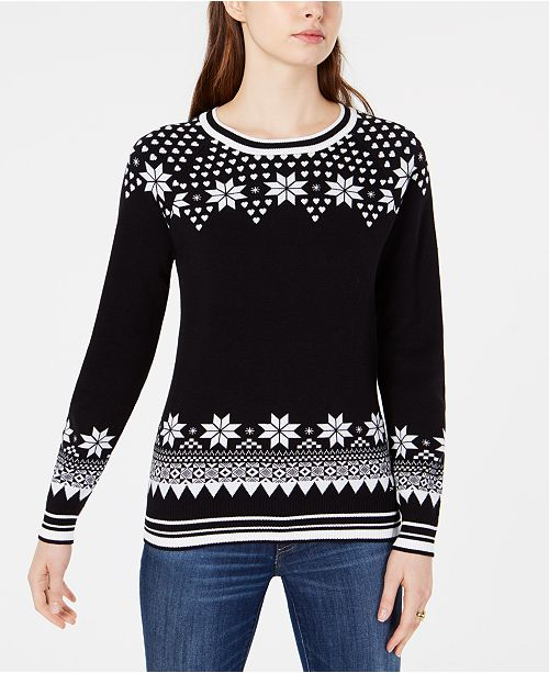 cf6d9b9c3c ... Tommy Hilfiger Cotton Fair Isle Sweater