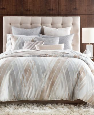Lateral Cotton Full/Queen Duvet Cover, Created for Macy's