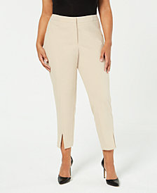 Calvin Klein Plus Size Split-Hem Pants