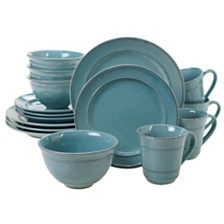 Certified International Orbit Solid Color - Teal 16-Pc. Dinnerware Set