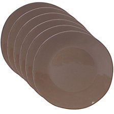 Certified International Harmony Solid Color - Taupe 6-Pc. Dinner Plate