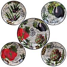 Botanical Veggies 5-Pc. Pasta Sets