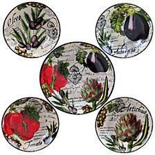 Certified International Botanical Veggies 5-Pc. Pasta Sets
