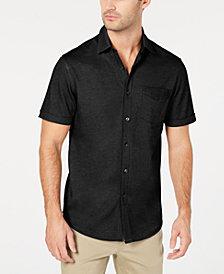 Tasso Elba Men's Button-Down Knit Shirt, Created for Macy's