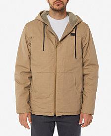O'Neill Men's Detroit Fleece-Lined Full-Zip Hooded Canvas Jacket