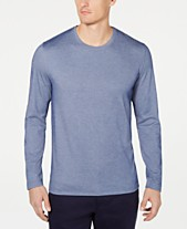 0f063c3cf161 Tasso Elba Men's Supima® Blend Crewneck Long-Sleeve T-Shirt, Created for