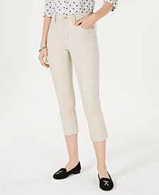 Charter Club Tummy-Control Capri Pants, Created for Macy's