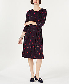 Charter Club Petite Floral Midi Dress, Created for Macy's