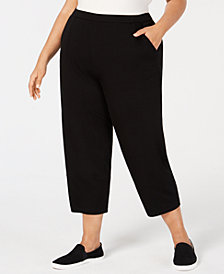 Eileen Fisher Plus Size Tencel Stretch Jersey Ankle Pants