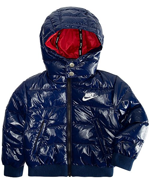 Nike Toddler Boys Hooded Puffer Bomber Jacket   Reviews - Coats ... 2c9565f0f