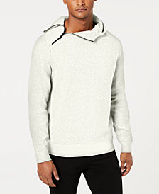 Sean John Men's Pebble Knit Hooded Sweater