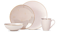 Lenox Trianna 4-Pc. Place Setting with Gold Salad Plate
