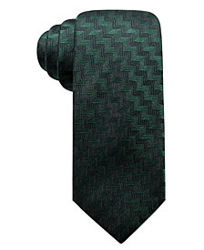 Alfani Men's Errol Slim Chevron Stripe Silk Tie, Created for Macy's