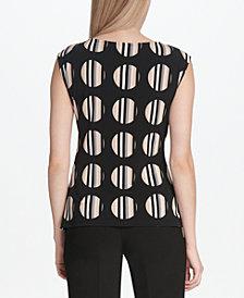 Calvin Klein Ruched Hardware-Trim Top