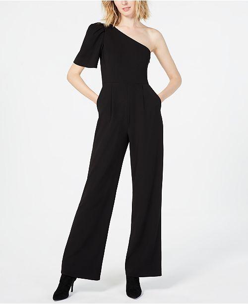 6c6eb070f14a9 Calvin Klein One-Shoulder Jumpsuit   Reviews - Pants   Capris ...