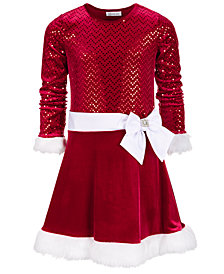 Bonnie Jean Big Girls Drop Waist Santa Dress