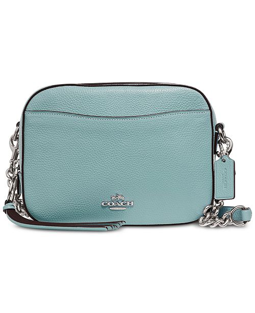 388625f62707 COACH Camera Bag in Polished Pebble Leather - Handbags   Accessories ...