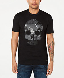 Sean John Men's Camo Skull Graphic T-Shirt