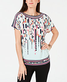 JM Collection Printed Dolman Top, Created for Macy's