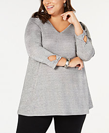 John Paul Richard Plus Size Bar-Back Top