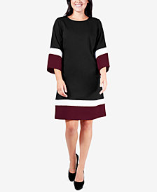 NY Collection Petite Colorblocked Dress