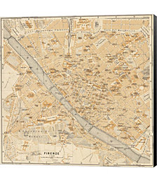 Mapa Di Firenze, 1896 by Judy Shelby Canvas Art