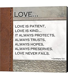 Love is Patient, Love is Kind by Unknown Canvas Art