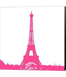 Pink Eiffel Tower by Veruca Salt Canvas Art