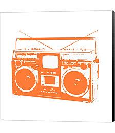 Orange Boom Box by Veruca Salt Canvas Art