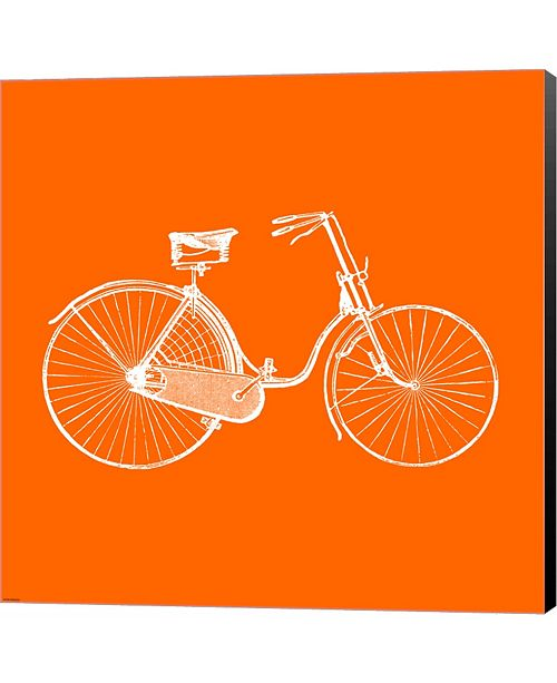 Metaverse Orange Bicycle by Veruca Salt Canvas Art