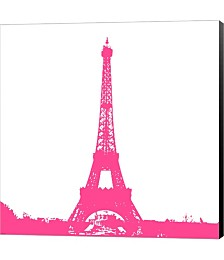 Pink Eiffel Tower by Veruca Salt Canvas Art